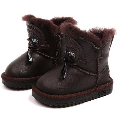Boys Snow Boots Winter Waterproof Non-slip Children's Boots Plus Cotton Warm Wool Boots