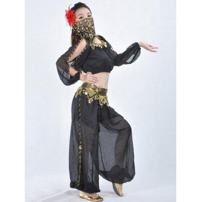 Belly Dance Lantern Long Sleeve Top Anello Bloomers Velo di danza del ventre