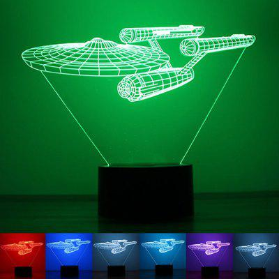 Star Trek 3D Night Light Button USB Power Collection Colorful Home LED Lights