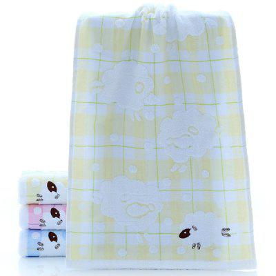 Towel Double-layer Crepe-free Embroidered Sheep AB Face Soft And Breathable Cartoon Wash
