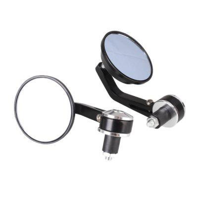 Motorcycle Rearview Full Aluminum Round Handle Mirror
