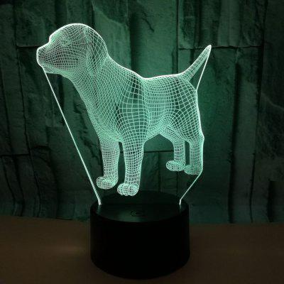 Colorful Creative Puppy 3D Lights Colorful Touch 3D LED Visual Lights Gift Decoration Desktop 3D Night Light
