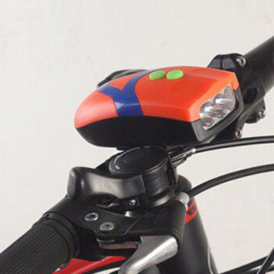 Bicycle Horn 3LED Bicycle Flashing Headlight Multifunction With Horn Bike Light 3 Tones