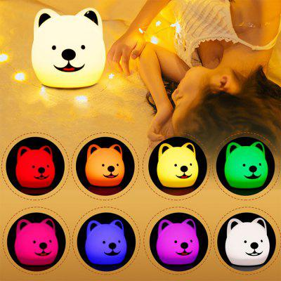 Colorido Silicone Pat Light Quarto Atmosfera Touch Table Lamp Led Animal Bonito Pet Light Night Light