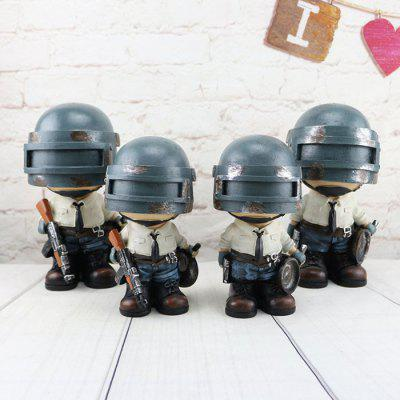 Military Model Ornaments Doll Piggy Bank