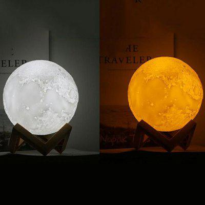 Hot 3D Moon Light 3D Moon Light PVC Niet-3D Print Moon Light Smart Remote