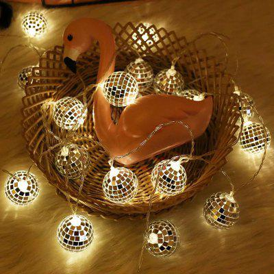 Mirror Ball Light String Diameter 4cm Ballroom Decoration Festival Layout Decorative Hanging Light