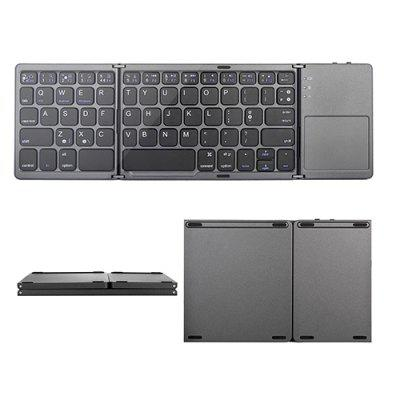 B033 Mobile Phone Tablet Folding Bluetooth Keyboard Ultra-thin Tri-fold Folding Touch Keyboard Three System Universal