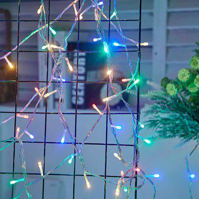LED Light String Natale Halloween Flash Light Outdoor Room Decorazione Starry String Light 10 Metri 100