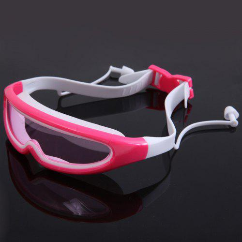 8b8d29530da2 Children s Large Box Goggles Waterproof Anti-fog Children Swimming Glasses  with Conjoined Earplugs