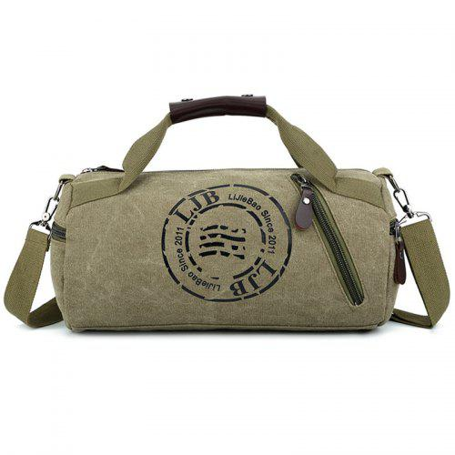 b65518cc6f3f Duffel Bags. Unisex Hand Bag Shoulder Canvas Cylindrical Leisure Travel  Fitness Clothing Bag