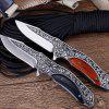Outdoor Tactics Wild Wilderness Survival Hunting Knife Multi-function Folding Knife Outdoor Tool Folding Knife - CHESTNUT