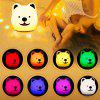 Colorful Silicone Pat Light Bedroom Atmosphere Touch Table Lamp Led Animal Cute Pet Light Night Light - MULTI
