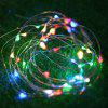 LED Solar Copper String Light Outdoor Outdoor Garden Christmas Tree Star Lights - MULTI-A