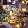 LED Copper Wire Pentagram Light String with Battery Box for Decoration - 2 METERS 20 LIGHTS - WARM WHITE