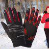 Outdoor Warm Men And Women Winter Fitness Sports Riding Non-slip Screen Touch Gloves - BLACK