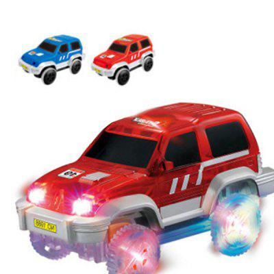 Light Rail Car DIY Multi-variable Assembling Spell Insert Plastic Electric LED Luminous Children's Toy Track Racing