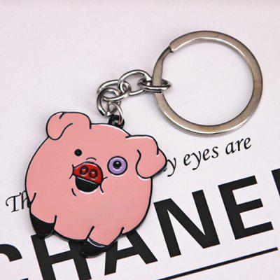 Grotesque Town Pig Keychain Shake Pig Pink Pig Cute Pig Cartoon Pendant