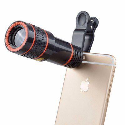 Universal 12 Times Mobile Phone Telephoto HD External Camera Lens