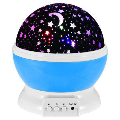 Star Projector Lamp Rotating LED Projection Night Light Starry Sky Projection Lamp Novelty Table Lamp