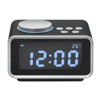 K2 Multi-function Alarm Clock LCD Display And Rotary Alarm Radio Temperature Display Electronic Alarm Clock