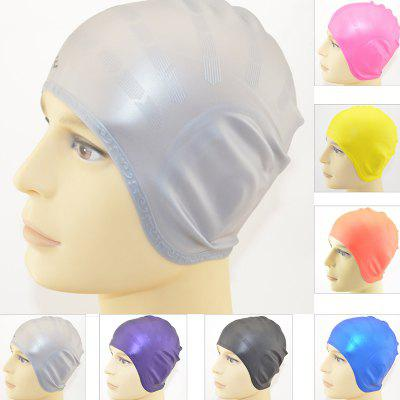 Silicone Earmuffs Swimming Caps For Men And Women Long Hair Waterproof Swimming Cap