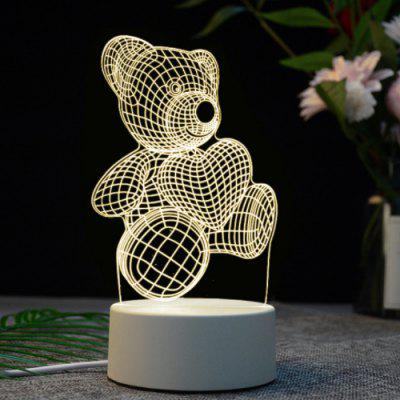 3D Creative Products Globo LED Night Light Smart USB Touch Vision Projection Desk Lamp Ricarica Lampada da tavolo