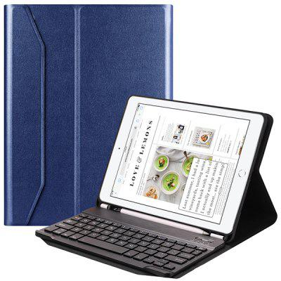 Tablet External Wireless Bluetooth Keyboard With Pen Tray TPU Soft Rubber Protective Cover