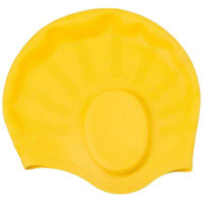 Diving Swimming Silicone Swimming Cap Unisex Waterproof Ear Protection Moisture-proof Adult