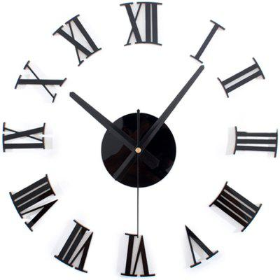 Modern Creative Living Room Mute Roman Numeral Wall Stickers Acrylic Clock