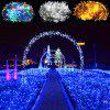 Holiday Lights Led Male And Female Inserted String Lights Outdoor Waterproof Engineering Lighting Small Lights Flashing Lights Lights Stars - COLOR 10 METERS 100 LIGHTS MALE AND FEMALE LIGHTS