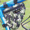 Triangle Mountain Bike Front Beam Bag Outdoor Riding Convenient Bicycle Front Bag - CAMOUFLAGE GREEN