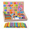 Kindergarten Arithmetic Mathematics Teaching Aids Count Bar Arithmetic Bar Plus Subtraction Learning Tool Box Magnetic Learning Toys - MULTI-A