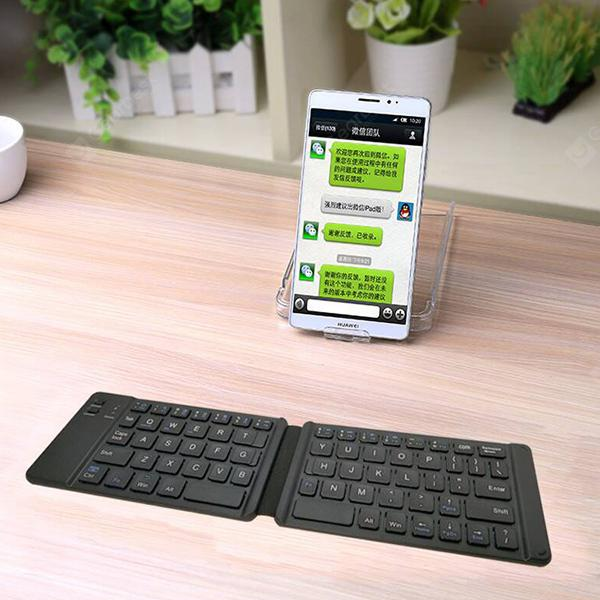 Folding Bluetooth Keyboard 20 Fold Folding Keyboard Support IOS and Android  Mobile Phone Tablet