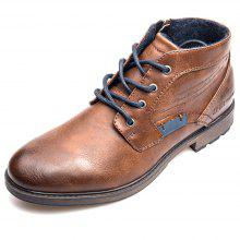0f90f3f089b8dc 18% OFF XPER Men Trendy British Style Anti-slip Cotton-padded Lace-up Boots