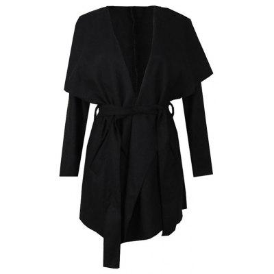 Women Fashion Long Sleeve Jacket Asymmetric Lapel Collar Coats Ladies Irregular Solid Color Slim Fit Coats Cardigans