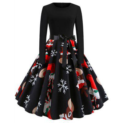 A Dress with A Round Collar for Christmas