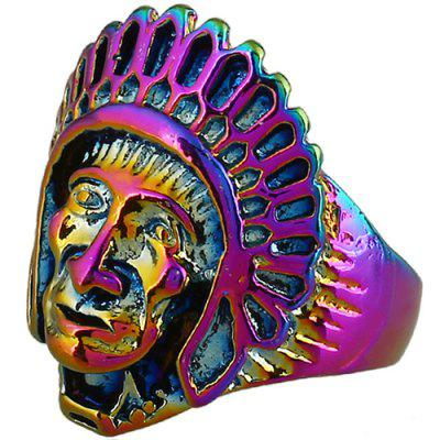 Vintage Chief Head of Indian Ring