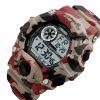 Skmei 1019 LED Sports Military Watch 50M Water Resistant - RED CAMO