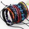 Bohemian Layered Faux Leather Woven Bracelet - COLORFUL