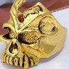 Vintage Alloy Skull Decorated Ring - GOLDEN