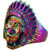 Vintage Chief Head of Indian Ring - COLORMIX