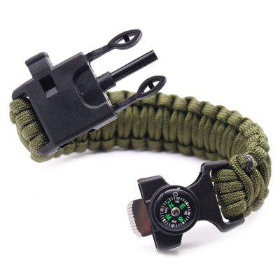 6 in 1 multifunctionele outdoor survival armband