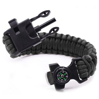 6 in 1 Multifunction Outdoor Survival Bracelet