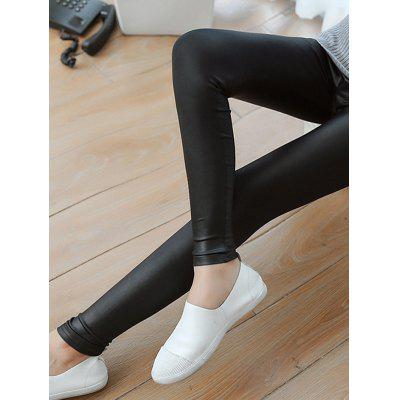 Woman Fashion Sexy Shiny Metallic Waist Stretchy Leggings Pants