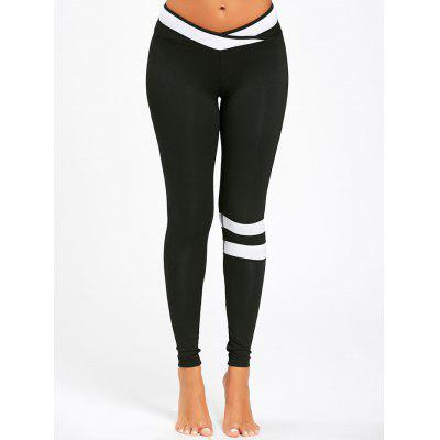 Stripe Contrast Workout Leggings