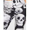 Skull Print Sports Leggings - BLACK