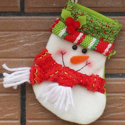 Boneco de neve do Xmas Tree Decor Hanging Present Bag Sock