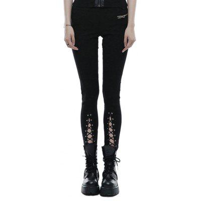 Girls New Design Lace-Up Tapered Leg Cotton Skinny Trousers Legging