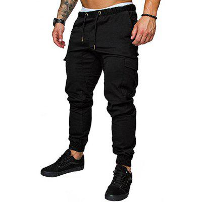Men's Fashion Casual Tether Elastic Sports Trousers Trousers